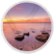 One Fine Morning Round Beach Towel