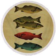 One Fish, Two Fish . . . Round Beach Towel