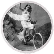 One For The Road, C1900 Round Beach Towel