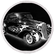 One Hot 1936 Chevrolet Coupe Round Beach Towel