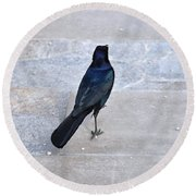 One If By Land Round Beach Towel