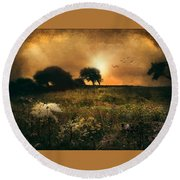 one morning in Clare Round Beach Towel