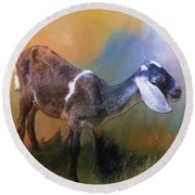 One Of God's Creatures Round Beach Towel