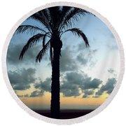 One Palm Round Beach Towel