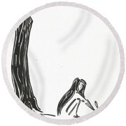 One Poem Round Beach Towel