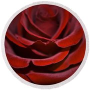 One Red Rose Round Beach Towel