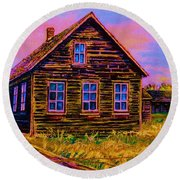 One Room Schoolhouse Round Beach Towel