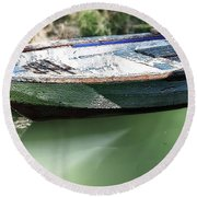 One Small Boat Round Beach Towel