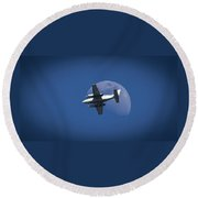 One Small Step For Man Round Beach Towel