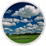 One Summer Day Round Beach Towel