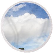One Tree Hill Round Beach Towel