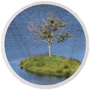 One Tree Island Round Beach Towel