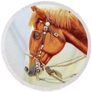 One Tricked Out Cowpony Round Beach Towel