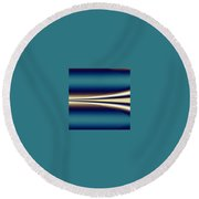 One Way II Round Beach Towel