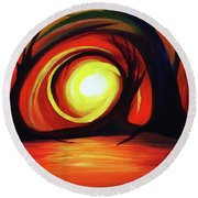 One With Nature Round Beach Towel