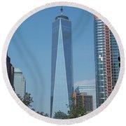 One World Trade Center 5 Round Beach Towel