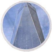 One World Trade Center New York City Round Beach Towel