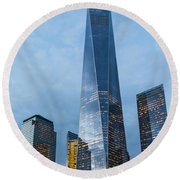One World Trade Center Round Beach Towel