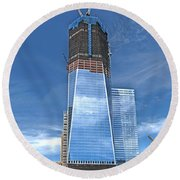 One World Trade Round Beach Towel