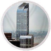 One57 And Park Hyatt Hotel In Nyc Round Beach Towel