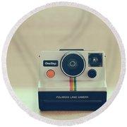 Onestep Polaroid Round Beach Towel