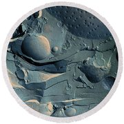 Onion Root Tip Cell, Freeze Fracture Tem Round Beach Towel