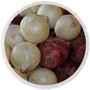 Onions IIi Round Beach Towel