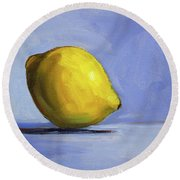 Only A Lemon Round Beach Towel