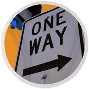 Only One Way Round Beach Towel