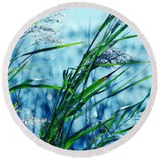 Only The Wind Knows Round Beach Towel