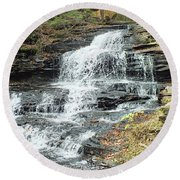 Onondaga 6 - Ricketts Glen Round Beach Towel