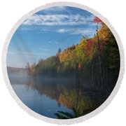Ontario Autumn Scenery Round Beach Towel