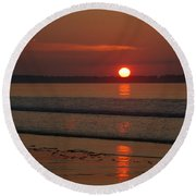 Oob Sunrise 2 Round Beach Towel