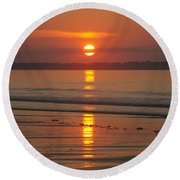 Oob Sunrise 3 Round Beach Towel