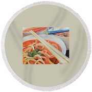 Oodles And Noodles, 2017 Round Beach Towel