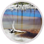 Opalescent Pool Yellowstone Np Round Beach Towel
