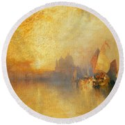 Opalescent Venice Round Beach Towel