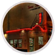 Open All Nite-texas Tavern Round Beach Towel