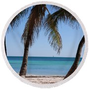 Open Beach View Round Beach Towel