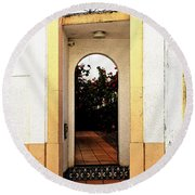 Open Doorway Round Beach Towel