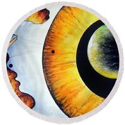 Open Mind. Door To Eternity Round Beach Towel