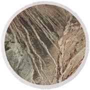 open pit mine Kennecott, copper, gold and silver mine operation Round Beach Towel