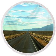 Open Road Round Beach Towel