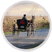 Open Road Open Buggy Round Beach Towel by David Arment