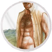 Open Spaces Round Beach Towel