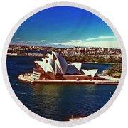 Opera House Sydney Austalia Round Beach Towel