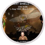 Operation Desert Shield/storm Round Beach Towel