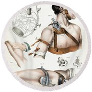 Operative Surgery, Illustration, 1846 Round Beach Towel