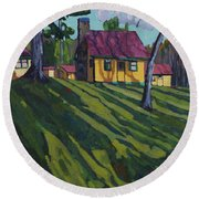 Opinicon Cottages In Autumn Round Beach Towel