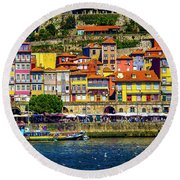 Oporto By The River Round Beach Towel
